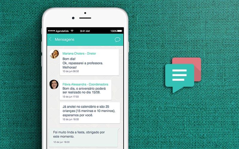 utilizar mensagens instantâneas tipo whatsapp para comunicação escolar