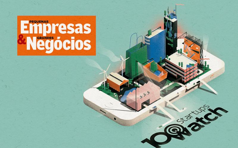 Matéria sobre startups da Revista PEGN