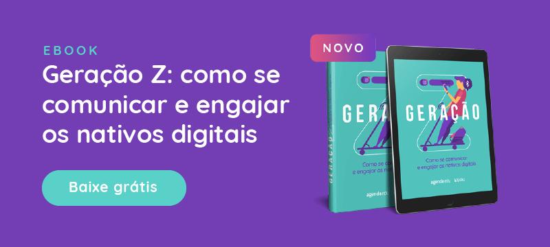 Banner - Ebook: Comunicação escolas com geração Z. Baixe grátis.