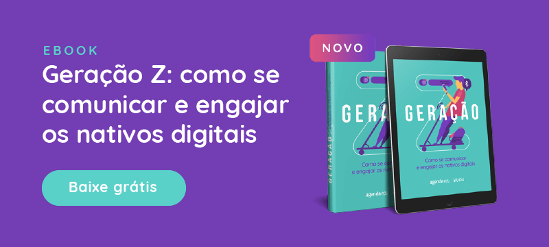 Banner - Ebook: Geração Z: Como se comunicar e engajar os nativos digitais. Baixe grátis.
