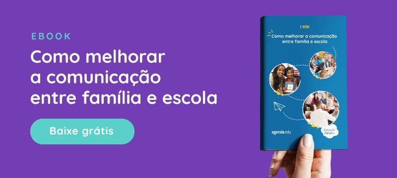 """banner do ebook """"como melhorar a comunicação entre família e escola"""""""