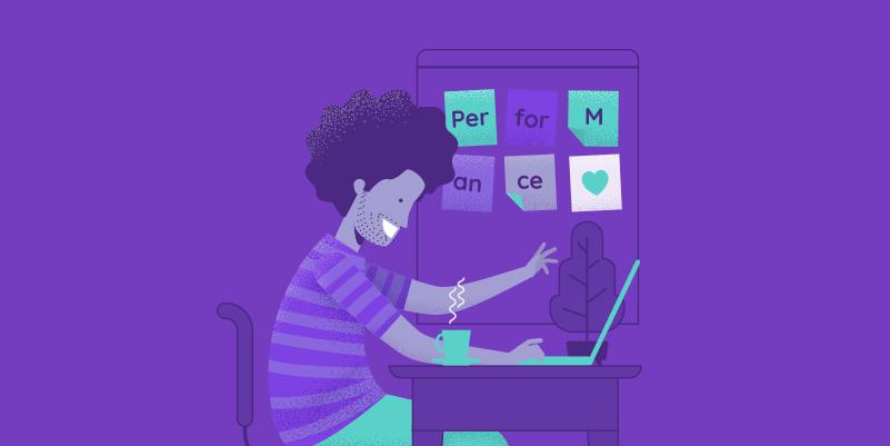 Aluno de alta performance no Enem: ilustração de um adolescente estudando em casa, na mesa ha um computador e uma caneca de café