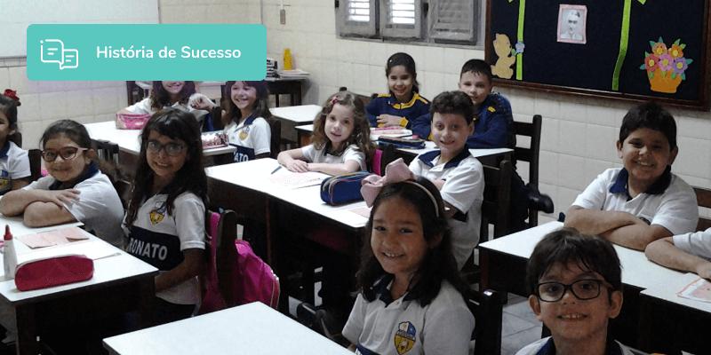 Crianças estudando na escola Patronato